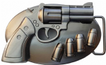 Revolver Spinning Barrel Belt Buckle. Code SL5